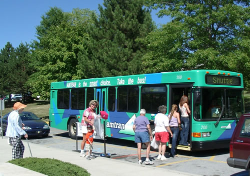 A 2000 Gillig low floor bus