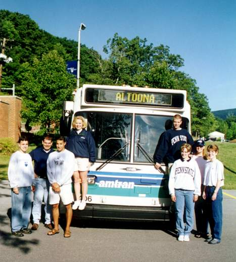 Students in front of AMTRAN bus